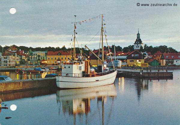 """Kartengrüße der Besatzung der MS """"Zeulenroda"""" aus Västervik Schweden"""