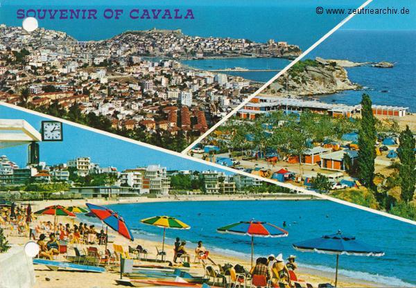"""Kartengrüße der Besatzung der MS """"Zeulenroda"""" aus Cavala Griechenland"""