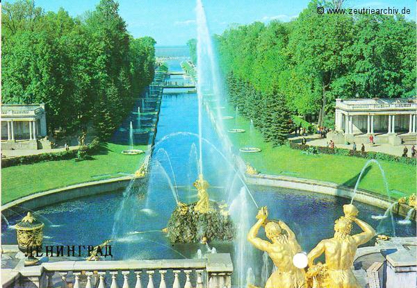 "Postkarte von der MS ""Zeulenroda"" aus Leningrad"