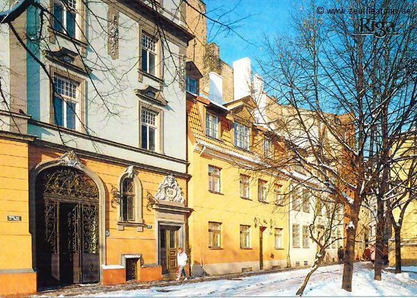 Kartengrüße der Besatzung der MS Zeulenroda aus Riga Lettland