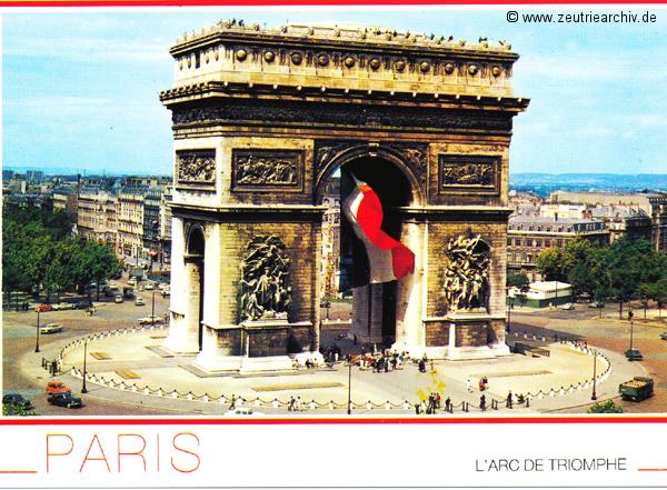Kartengrüße der Besatzung der MS Zeulenroda aus Paris Frankreich