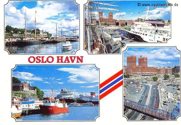 Kartengrüße der Besatzung der MS Zeulenroda aus Oslo Norwegen