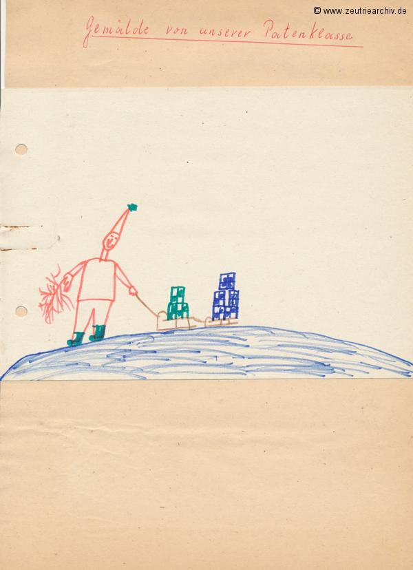 Gemälde der Patenklasse von Andreas Herrgen Klasse 1a 13.12.1976 Kollektiv Ökonomie Hermann Krahnert des VEB Möbelkombinates Zeulenroda Zeutrie Zeu Trie 1976 bis 1977