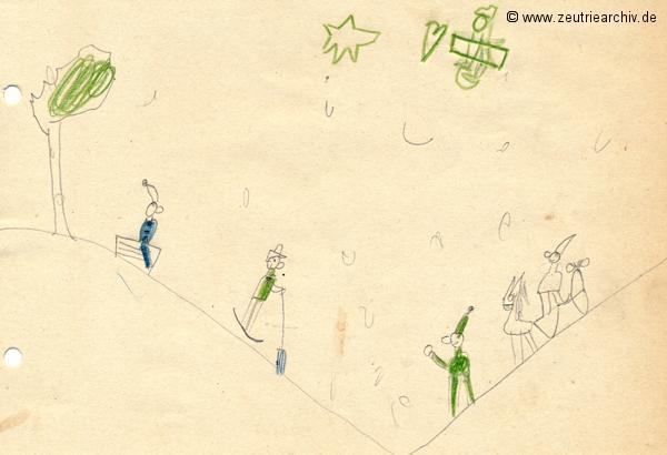 Gemälde der Patenklasse von Heiko Neumann Klasse 1a 13.12.1976 Kollektiv Ökonomie Hermann Krahnert des VEB Möbelkombinates Zeulenroda Zeutrie Zeu Trie 1976 bis 1977