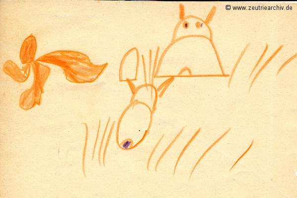 Gemälde der Patenklasse von Babett Drechsler Klasse 1a 13.12.1976 Kollektiv Ökonomie Hermann Krahnert des VEB Möbelkombinates Zeulenroda Zeutrie Zeu Trie 1976 bis 1977