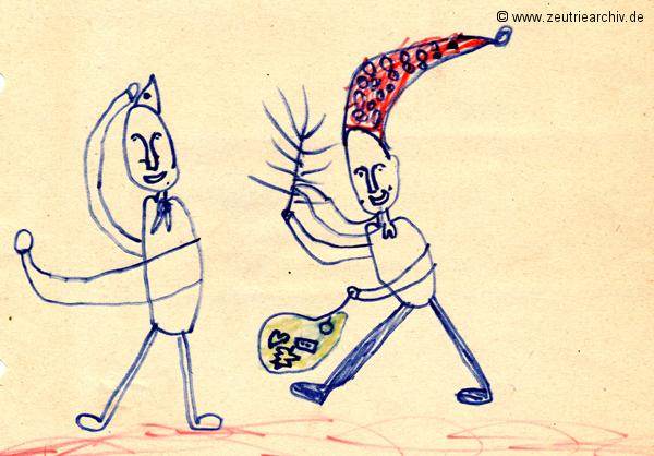 Gemälde der Patenklasse von Rachid Boucherifi Klasse 1a 13.12.1976 Kollektiv Ökonomie Hermann Krahnert des VEB Möbelkombinates Zeulenroda Zeutrie Zeu Trie 1976 bis 1977