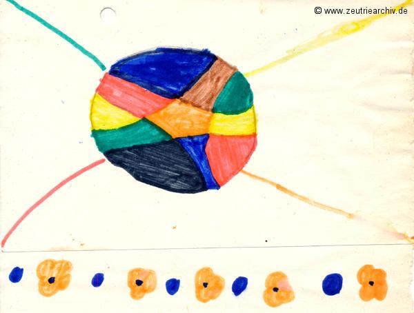 Gemälde der Patenklasse Kollektiv Ökonomie Hermann Krahnert des VEB Möbelkombinates Zeulenroda Zeutrie Zeu Trie 1976 bis 1977