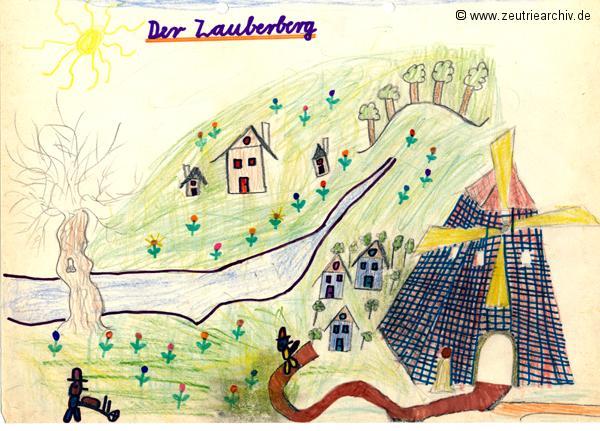 Gemälde der Patenklasse von Kai Uwe Günter Kollektiv Ökonomie Hermann Krahnert des VEB Möbelkombinates Zeulenroda Zeutrie Zeu Trie 1976 bis 1977