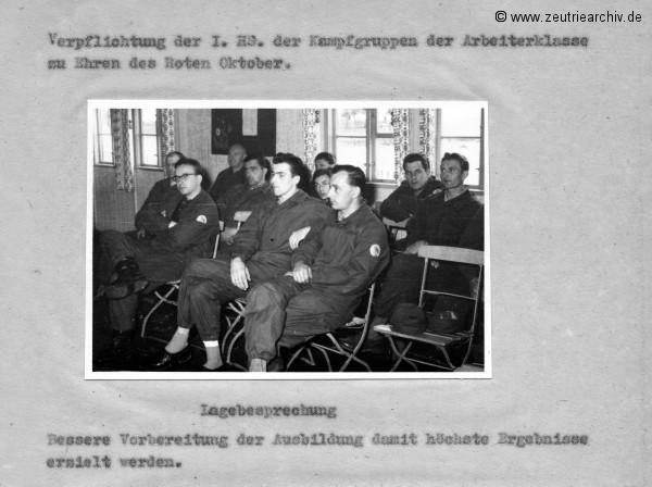 Überblick über die Weiterführung des sozialistischen Wettbewerbes zu Ehren des 50. Jahrestages der Großen Sozialistischen Oktoberevolution  im VEB Ostthüringer Möbelwerke ZEU - TRIE.