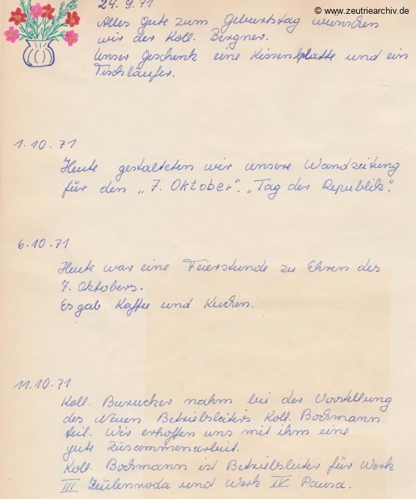 Brigadebuch 2 DWB2 der VEB Metallweberei Neustadt Orla Betriebsteil Zeulenroda DDR