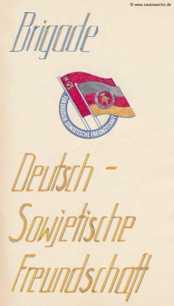 Brigadebuch 3 DWB3 der VEB Metallweberei Neustadt Orla Betriebsteil Zeulenroda DDR