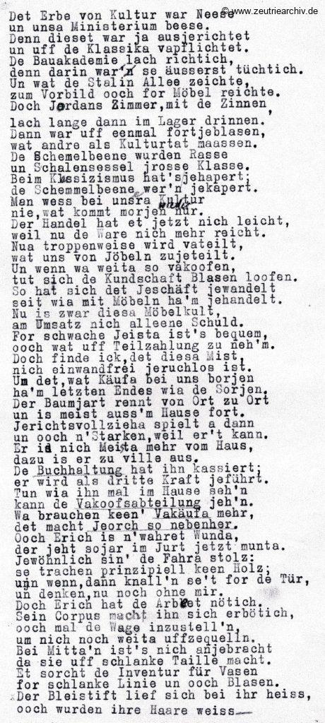 Industrieladen Berlin Zeutrie Möbel Zeulenroda DDR Weihnachten 1957