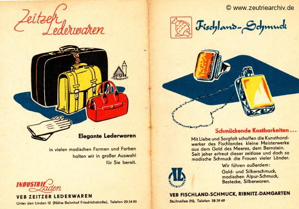 DDR Industrieläden Berlin Zeutrie Möbel Zeulenroda Industrieladen Ostthüringer Möbelwerke Zeitzer Lederwaren Fischland Schmuck Ribnitz Damgarten
