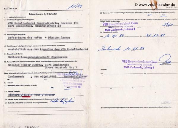 Ordner DWO12 Heizung des VEB Metallweberei Neustadt Orla Betriebsteil Zeulenroda Baderschneider Lenzner DDR heute Zeuro Zeutrie Möbel