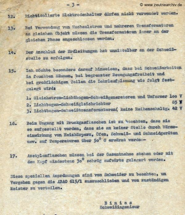 Ordner DWO18 Schweißen und Elektro des VEB Metallweberei Neustadt Orla Betriebsteil Zeulenroda Baderschneider Lenzner DDR heute Zeuro Zeutrie Möbel