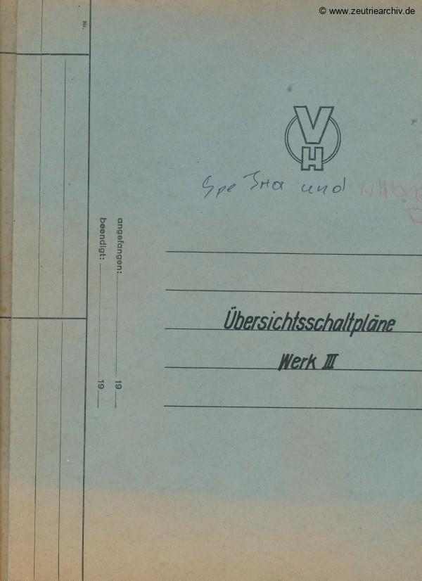 Ordner Übersichtsschaltpläne Werk 3 des VEB Metallweberei Neustadt Orla Betriebsteil Zeulenroda Baderschneider Lenzner DDR heute Zeuro Zeutrie Möbel