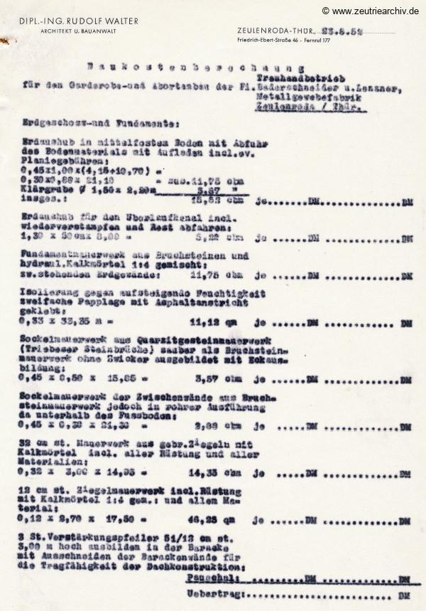 Ordner Briefumschlag Walter des VEB Metallweberei Neustadt Orla Betriebsteil Zeulenroda Baderschneider Lenzner DDR heute Zeuro Zeutrie Möbel