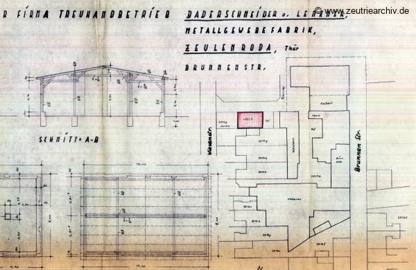 Ordner Zeichnungen Baupläne des VEB Metallweberei Neustadt Orla Betriebsteil Zeulenroda Baderschneider Lenzner DDR heute Zeuro Zeutrie Möbel
